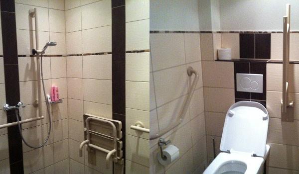Aangepate rolstoel badkamer Moselschiefer-wc-douche